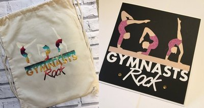 Gymnasts Gymnastics - for HTV (vinyl)  or as a card topper
