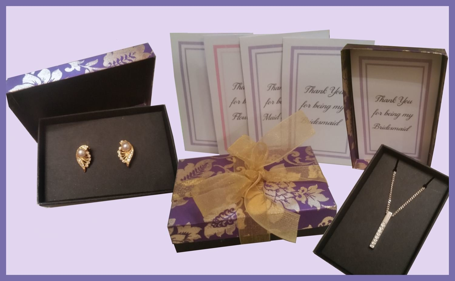 Gift Box - with Necklace and Earring Jewellery inserts -FCM format