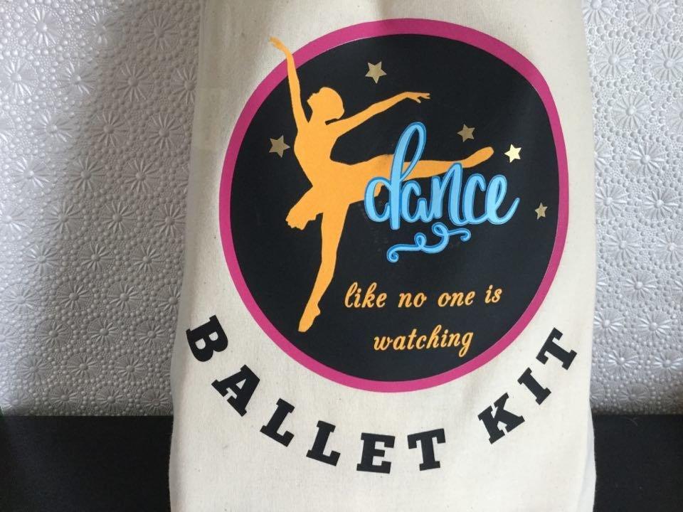 Ballet Dance Kit Bag Design 6 - studio format for HTV vinyl