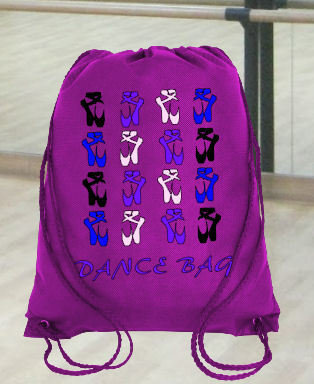 Ballet Dance Kit Bag Design 7 - studio format for HTV vinyl