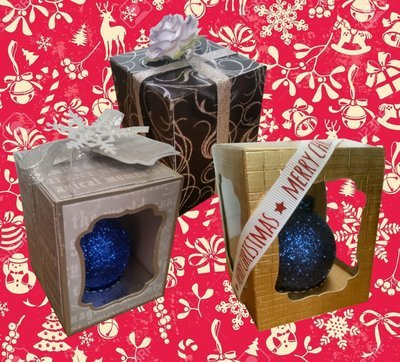 Christmas Bauble Ornament Box -  multi design choice see details -
