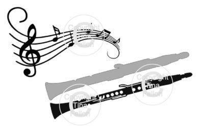 Layered Clarinet and music