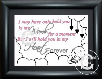 I May Have Only held you in my ARMS for a moment (for a landscape  frame)  studio format