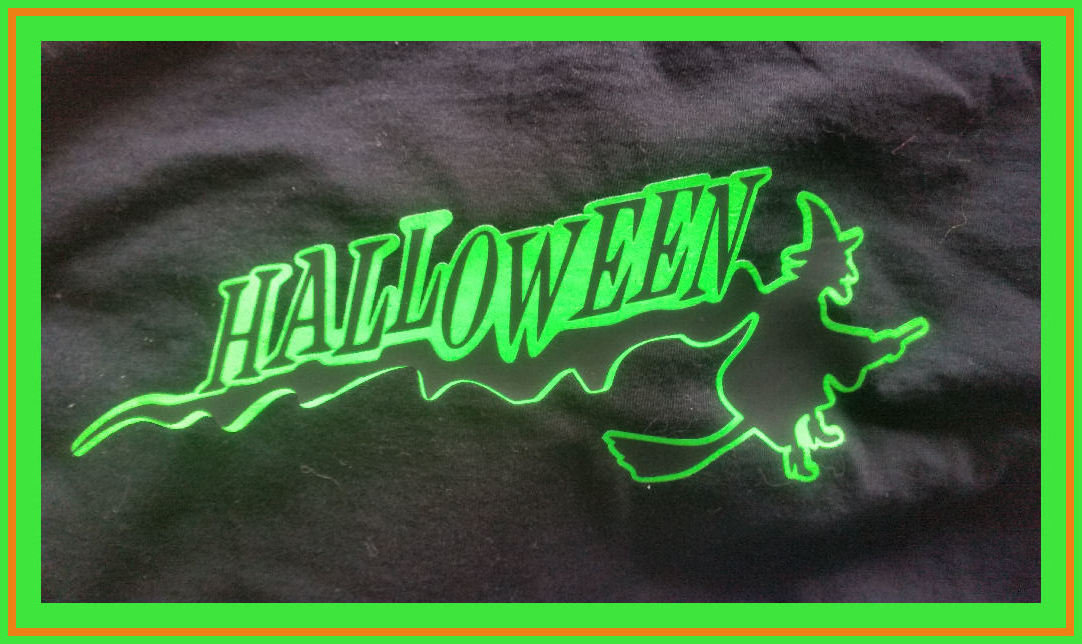Halloween Witch on Broomstick layered file