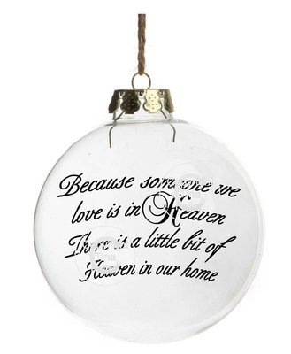 Because Someone We Love is in heaven - Curved text for baubles