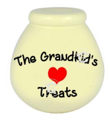 The Grandkid's Treats  - Money pot / bottle precurved text vinyl quote