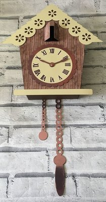 Cuckoo Clock 3d Model - will take a clock mechanism inside SVG/STUDIO/FCM