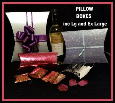 Set of 7 Pillow Boxes inc Large and Extra Large - see item description