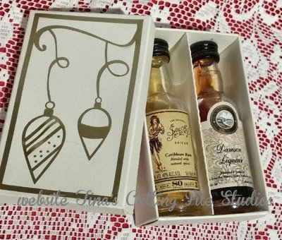 Small gift box for 2 bottles Miniature Spirit Alcohol Gift bottles with decorative lid decal