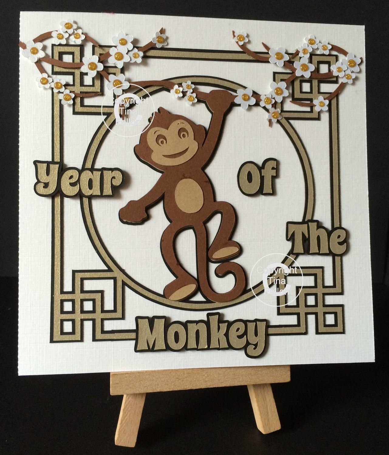 Chinese New Year Card - design 6 Lunar Year of The Monkey