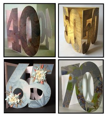 30th,40th,50th,60th, 65th and 70th Gatefold Card OFFER SET