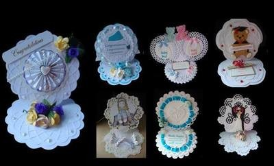 Set of 7 Round Easel Cards SPECIAL OFFER