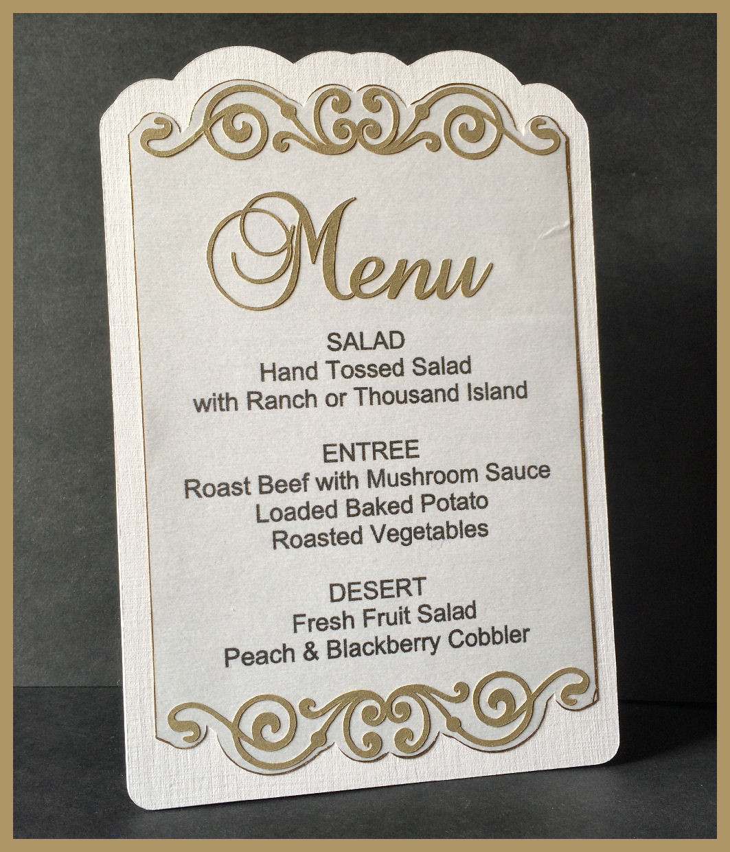 The Bridal Collection -   Menu Holder