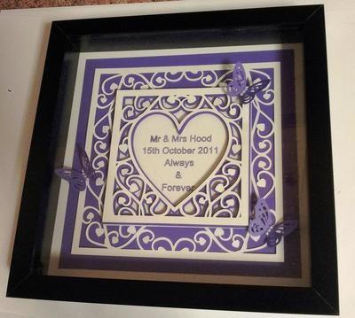 Heart Swirls Duo Frame Designer wedding stationery range