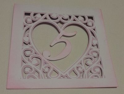Heart swirls table numbers 1 to 12