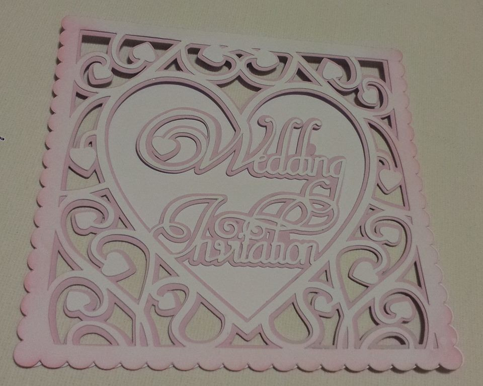 Heart Swirls Wedding Invitation card template