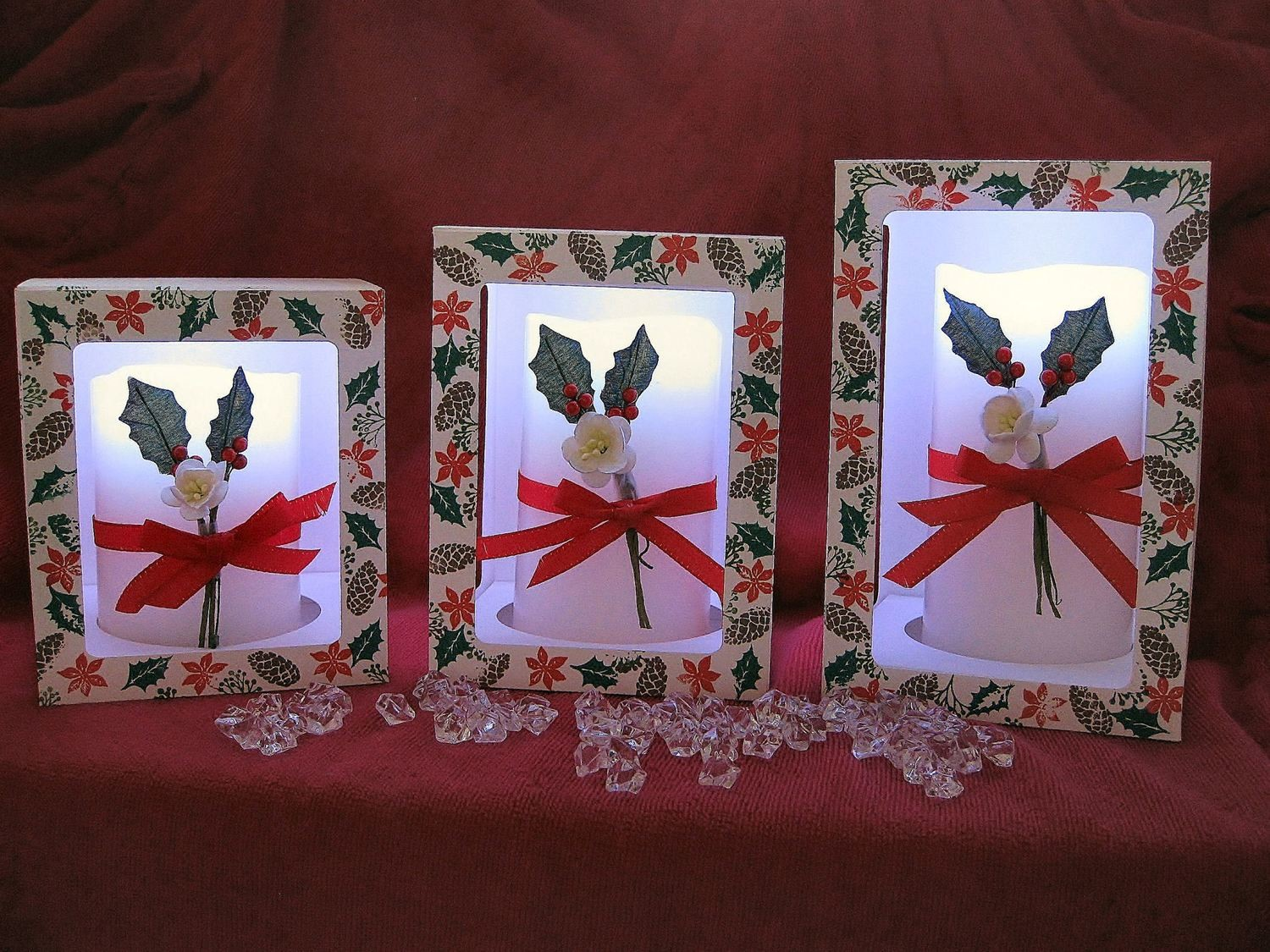Pillar Candle Boxes set of 3 different sizes