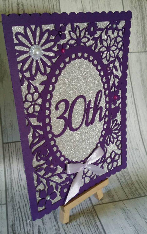 30th Birthday floral card - studio