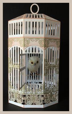 Vintage Birdcage 3d model.