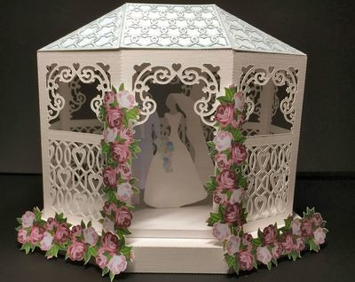 Wedding Gazebo complete with box and bride & groom  as shown in photo