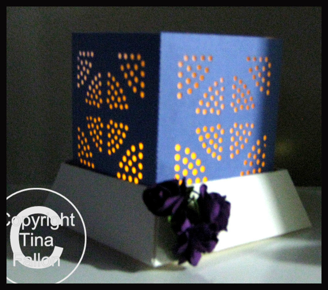 3d MINI  Luminaire - Lantern - Lamp - Abstract Circles  with optional peaked lid