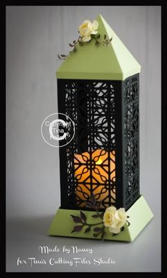 3d Lantern - Lamp - Filigree