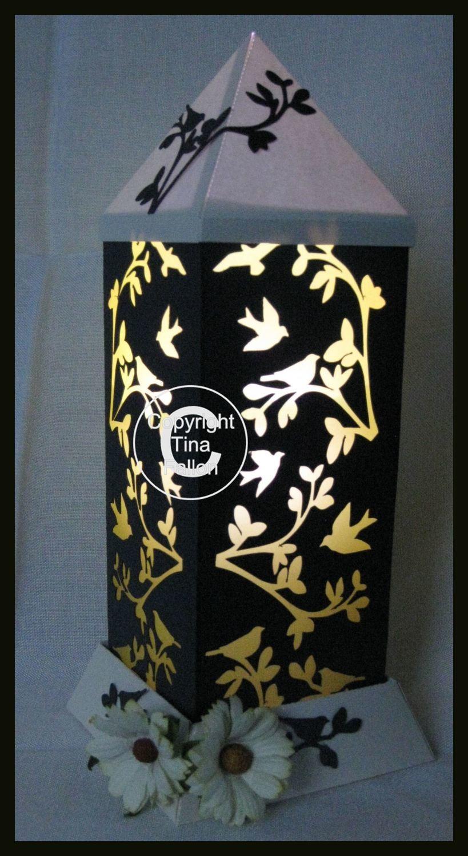 3d Lantern - Lamp - Birds