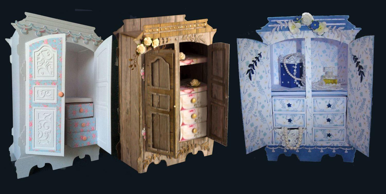 Armoire,Dresser, Wardrobe with Matchbox drawers