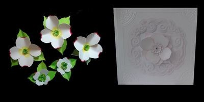 Dogwood  3d flower. . Create your own stunning flowers