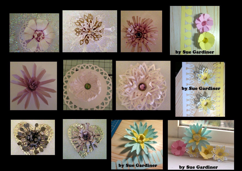 Quilling flower strips  full set of 20 flower quilling strips,
