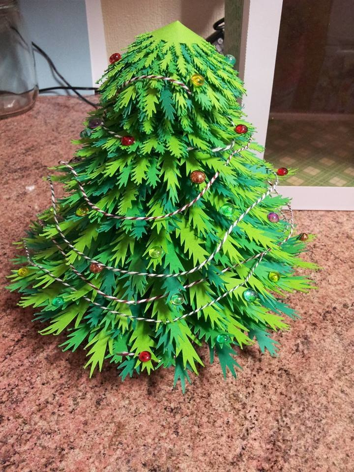 Create your Own 3d Christmas  Tree with box - SVG format
