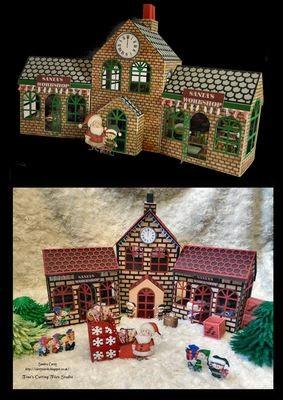Santa's Workshop / Train Station 3d model - 2 Storey Main Building and Side Workshop SVG format