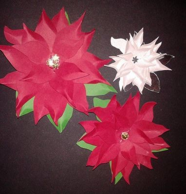 3d layered Poinsettia  Create your own stunning flowers