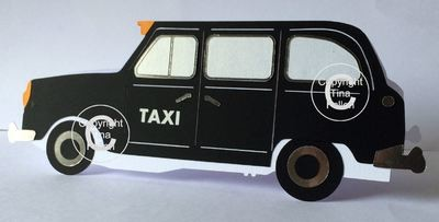 London TX4 Taxi (with box and insert )  Studio /SVG and FCM format