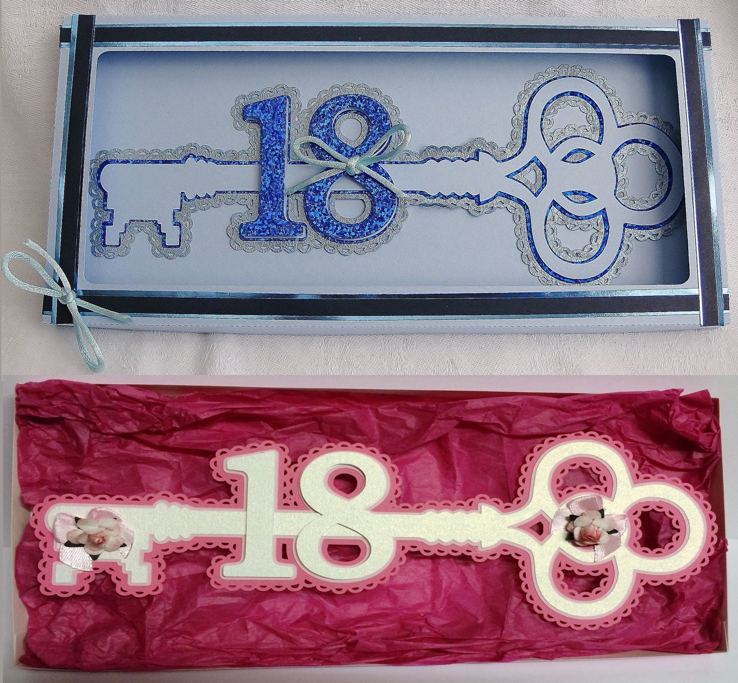 18th  Key with presentation box  layered cutting file