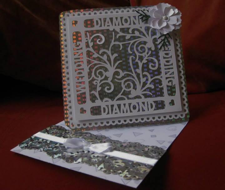 Diamond Anniversary Occasion Topper