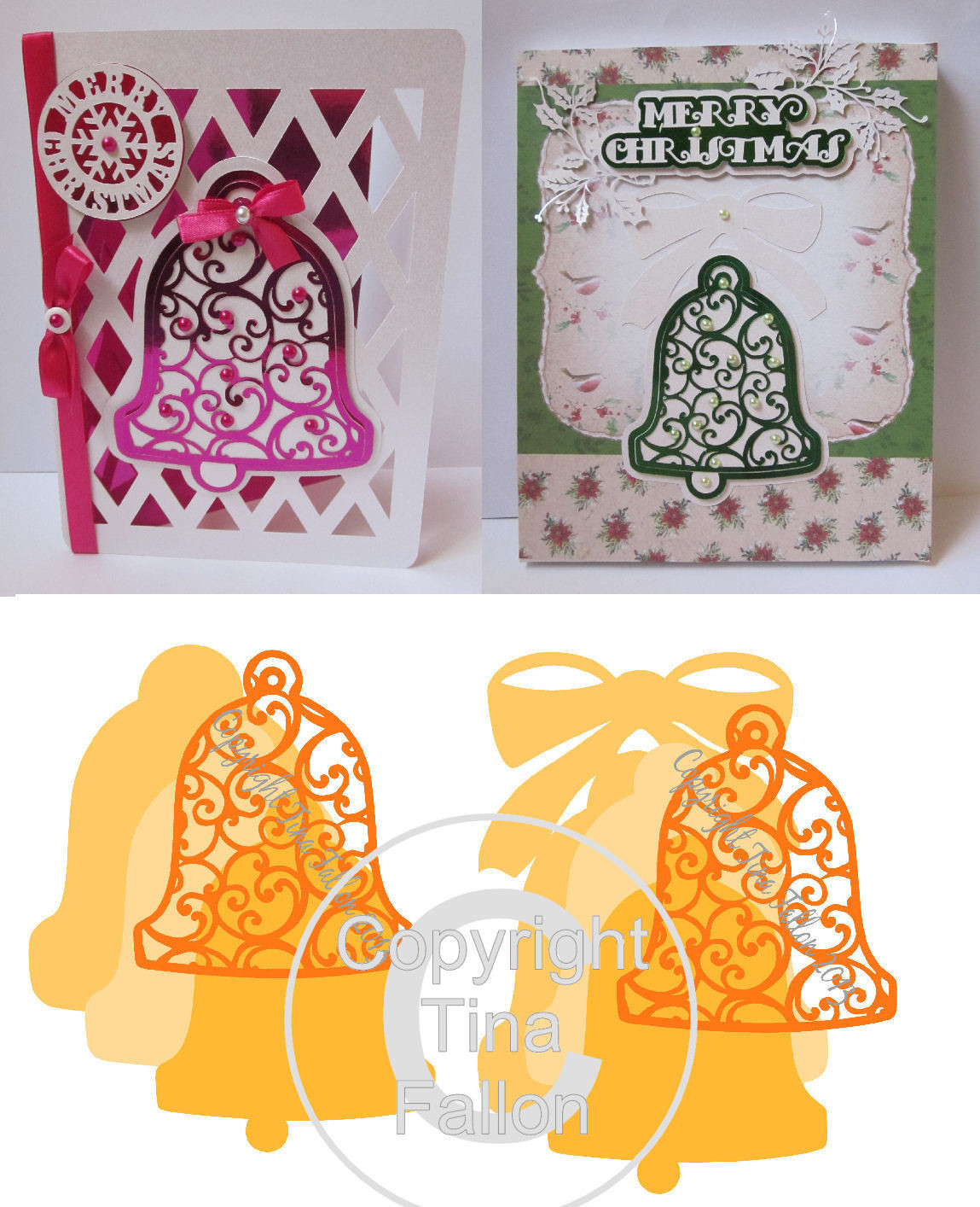 Christmas Cutz 3 - Filigree Bells   Card Topper
