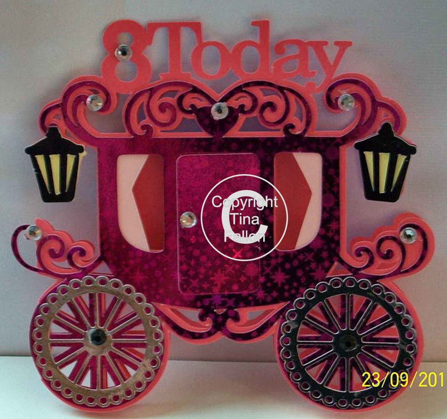 Princess Carriage 8 today Card Template