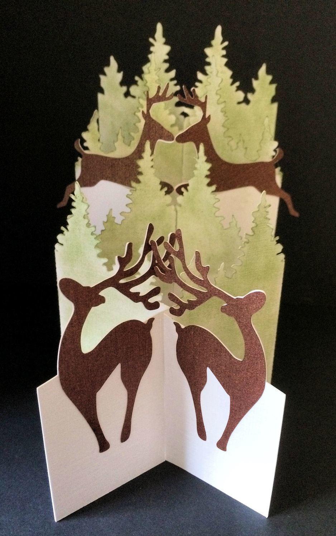 Reindeer - Christmas Themed Cascade Card - studio format