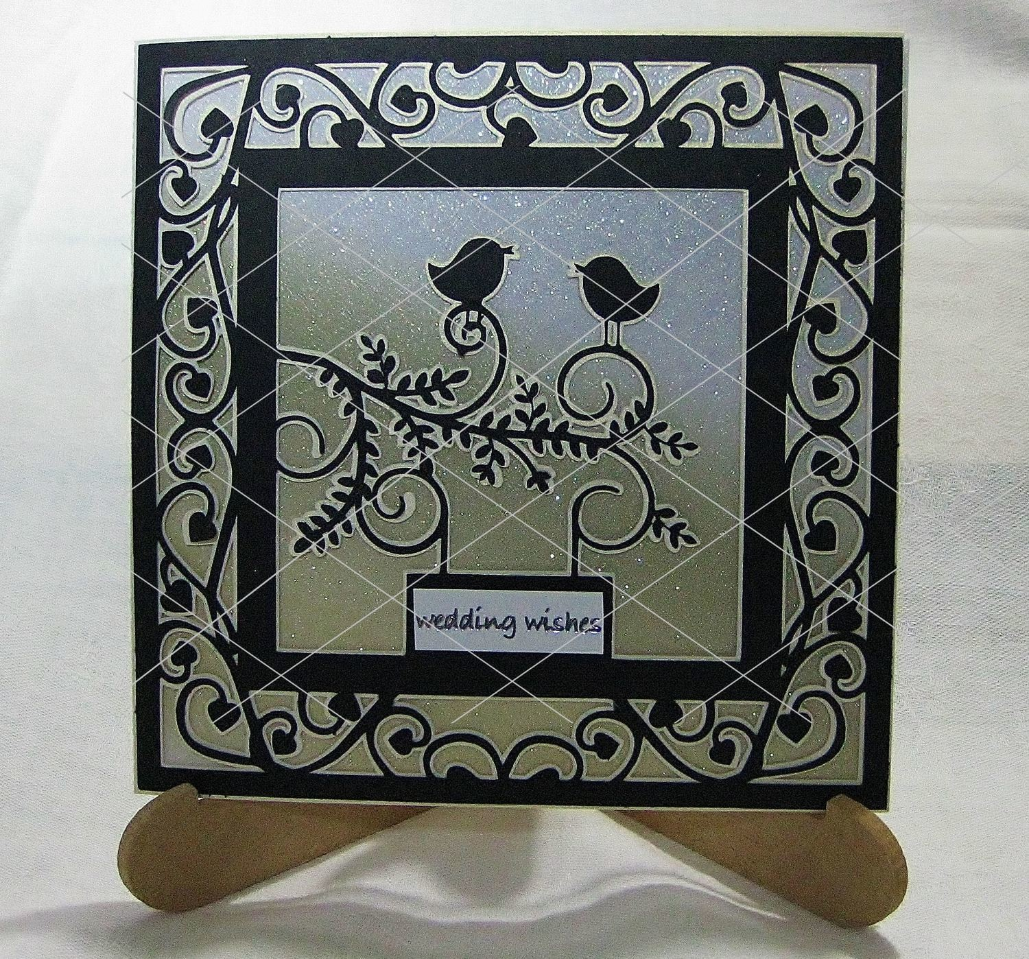Love Birds Card template  - Romance,Wedding,Engagement, Invitations Valentinesetc
