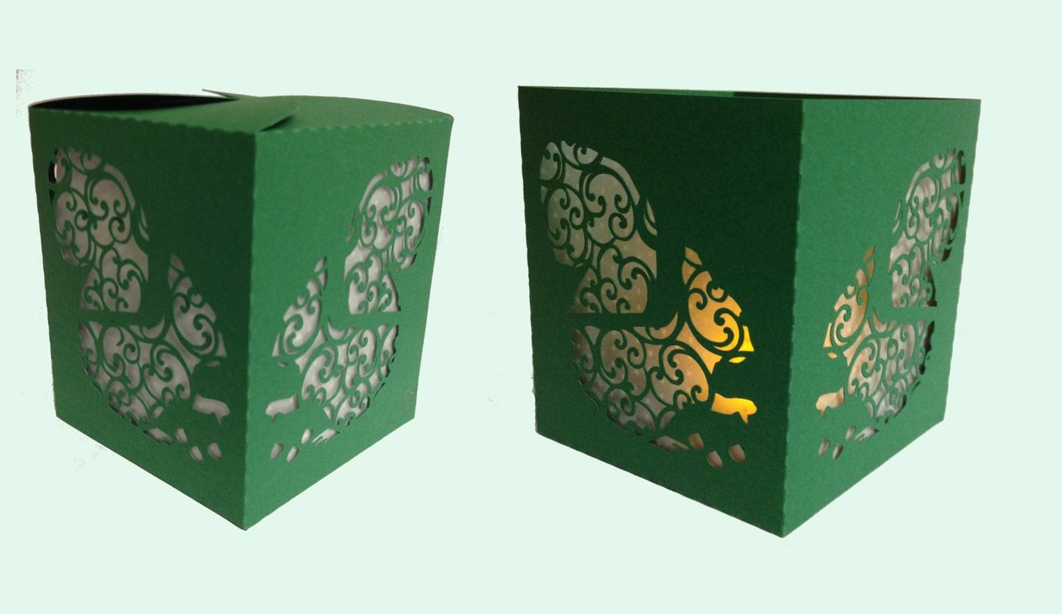 Luminaire or Gift Box Squirrel 2 files
