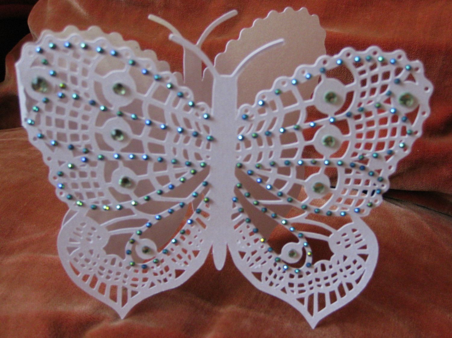 Butterfly card shaped
