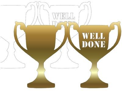 Trophy Card Well Done