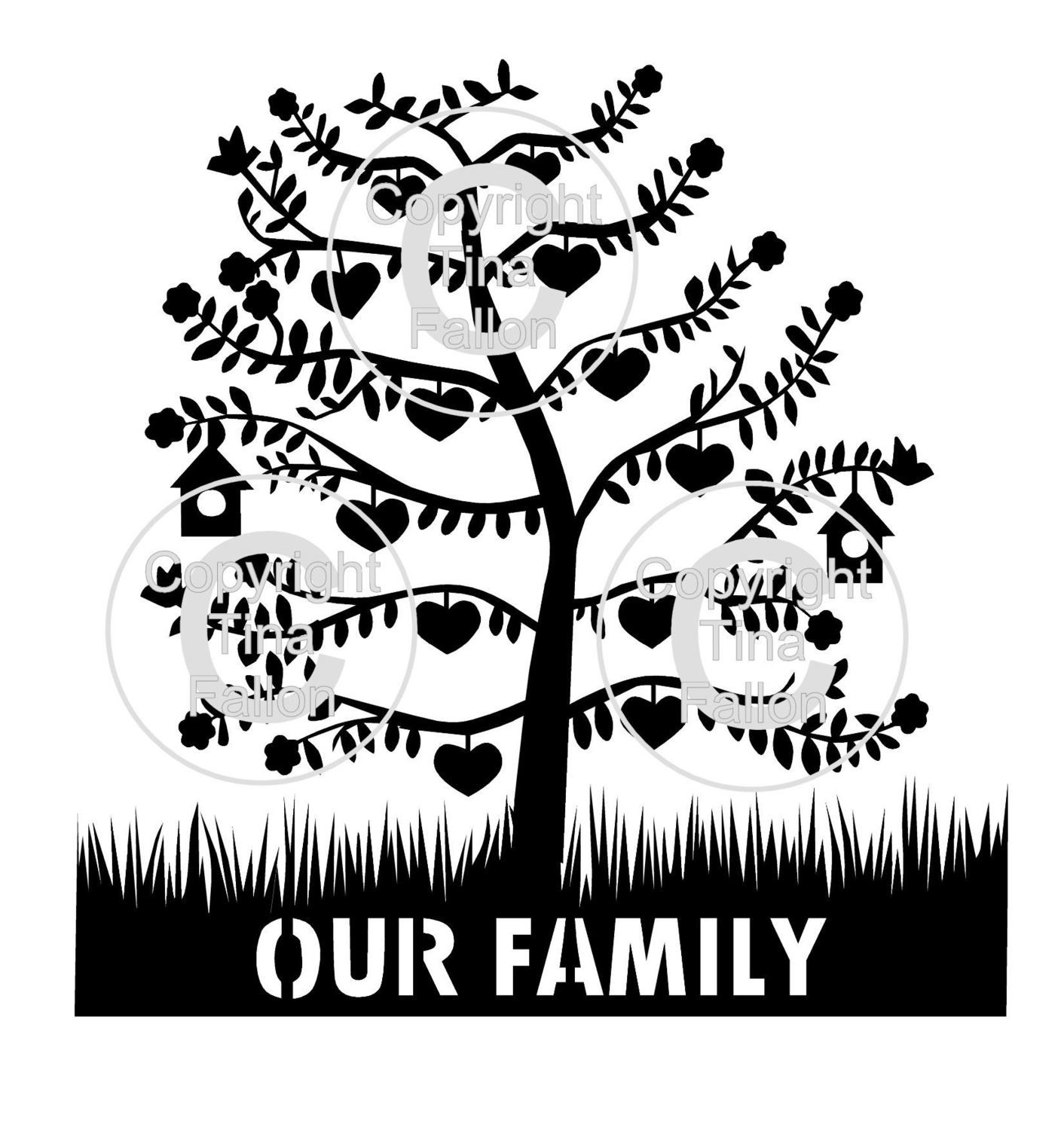 Family Tree for 12  can be personalised with names and dates