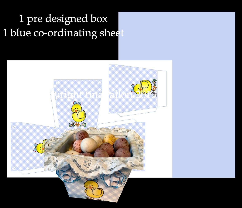 Easter Planter Chocolate Box No 7   print n cut studio cutting file