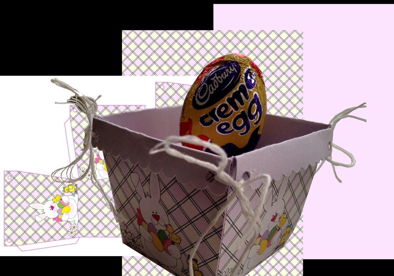 Easter Planter Chocolate Box No 4   print n cut studio cutting file