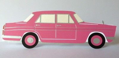 Classic Car ** Austin Cambridge ** Card Template and Topper