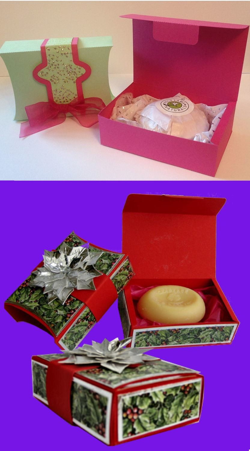 Gift Box with outer wrap ideal for handmade soaps.