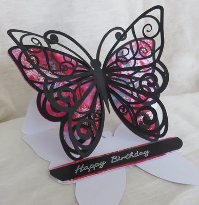 Butterfly 1 Easel Card Template