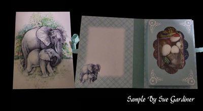 Elephants Combined Card-Box PNC
